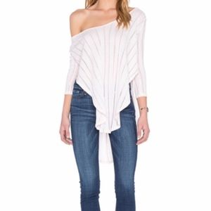 Free People Ribbed Striped T